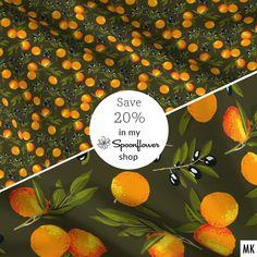 42 new patterns available in my @Spoonflower shop! 20% discount on Fabric, Wallpaper, Home Decor & DIY Mask Kits until Feb 12! No code necessary. 42 neue Muster erhältlich in meinem @Spoonflowerde Shop & 20% Rabatt auf alles bis Fr 12. 2.! #fabricsale #neuestoffe #nähenfetzt #nähliebe #olives #oranges #seamlesspattern #sewing #sewingisfun #spoonflower #spoonflowerdesigner #spoonflowerfabricsale #spoonflowermakers #spoonflowersale #stoffeonlinekaufen #stoffliebe #stoffmuster #textiledesigner Shops, Custom Fabric, Spoonflower, Wallpaper, Pattern, Home Decor, Shopping, Instagram, Design