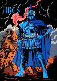 Wonder Woman foe Ares God of War Women Villains, Son Of Zeus, Arte Nerd, Star Comics, New Gods, Dc Movies, How To Make Comics, Dc Characters, Greek Mythology