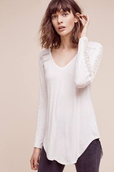 Lace-Line Tee at Anthropologie