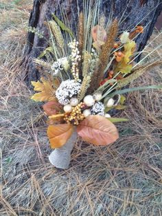 This bouquet us far too tall to be a bridal bouquet and the wheat is likely to tear up your dress Home Wedding, Wedding Sets, Fall Wedding, Dream Wedding, Wedding Stuff, Bridesmaid Flowers, Bride Bouquets, Bridesmaids, Country Wedding Flowers