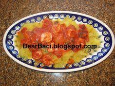 Dear Baci: Spaghetti Squash with Shrimp and Sauce