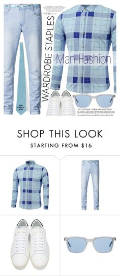 """Mad for Plaid"" by vanjazivadinovic ❤ liked on Polyvore featuring Yves Saint Laurent, Oliver Peoples, men's fashion, menswear, plaid, polyvoreeditorial, WardrobeStaples and twinkledeals"
