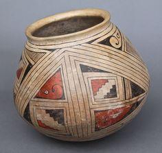 Ancient Native American Indian Pottery, Chip on rim.[Height/Length (in)= 7, Width (in)=8.25, Depth (in)=N/A, Weight (lbs)=4] With C.O.A. signed by Chief Joe Dan Osceola & Seminole Tribe.