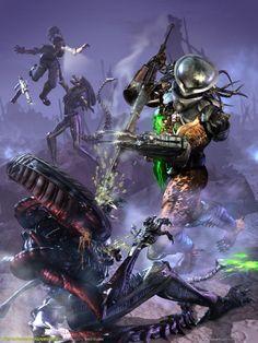 Alien Vs Predator Wallpapers - http://wallpaperzoo.com/alien-vs-predator-wallpapers-2-21945.html