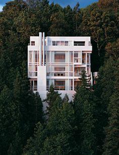 Douglas House,Harbor Springs, MI. Fotografía © Ezra Stoller/Esto. Richard Meier & Partners. Complete Works 1963-2013. Imagen cortesía de TASCHEN.