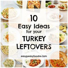 Need a few ideas for how to make the most of your leftover roast turkey this year? Want something a bit more exciting than turkey sandwiches AGAIN? Check out these 10 Easy Ideas for your Turkey Leftovers. Turkey Leftovers, Leftover Turkey Recipes, Turkey Sandwiches, Roasted Turkey, Christmas Fun, Holiday, Easy Peasy, Meal Planning, Yummy Food