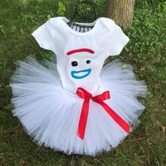 Items similar to Forky costume forky inspired tutu outfit white tutu Halloween costume forky dress on Etsy <br> Toy Story Theme, Toy Story Party, Toy Story Birthday, Costumes For Work, Group Halloween Costumes, Couple Costumes, Winter Cupcakes, Tutu Outfits, Toy Story Halloween