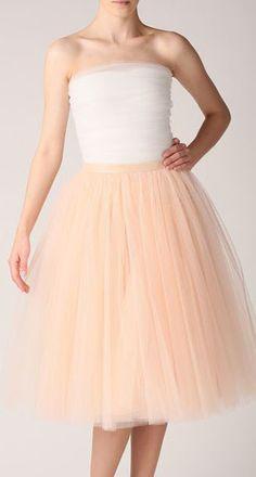 Champagne tutu skirt, Handmade long skirt