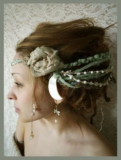 Lady Of The Swamps Moon Headpice by Moonalia on Etsy