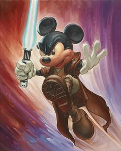 Jedi Mickey ©McCullough/Disney Artist Greg McCullough coming to WDW. Check PixieDustDaily.com for dates and times!