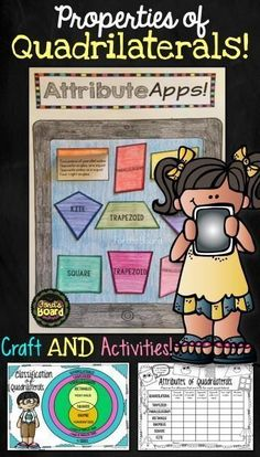 This is a fun and engaging craft activity that will help your students identify properties of quadrilaterals! In addition to the craft activity, a handy diagram of the classification of quadrilaterals is included. Finally, students will think critically t