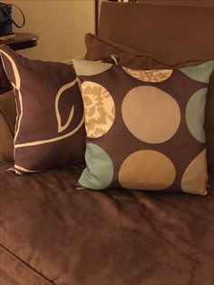 Easy to make throw pillows, zippered and can be washed and reused