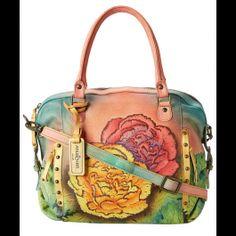 Anuschka Handbags - 526 (Colorful Carnations) - Bags and Luggage Tote Handbags, Purses And Handbags, Mata Hari, Floral Tote Bags, Painting Leather, Beautiful Handbags, Womens Tote Bags, Wallets For Women, Beautiful Necklaces