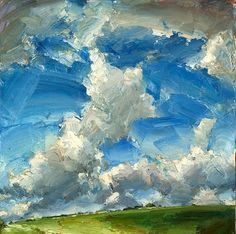 Oliver Akers Douglas, Big Day Love the brushstrokes in this painting. Landscape Art, Landscape Paintings, Sky Painting, Wow Art, Painting Inspiration, Amazing Art, Awesome, Contemporary Art, Art Photography