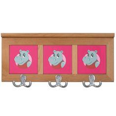 Cute hippopotamus cartoon coat rack