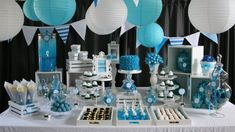 blue color birthday party decorations | sueniosencantados blog | printable stationery & partyware