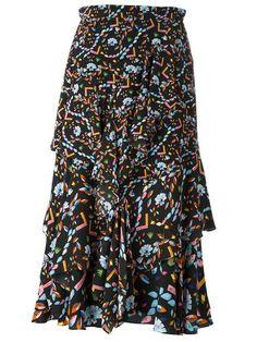 PETER PILOTTO Floral Print Ruffled Skirt. #peterpilotto #cloth #skirt