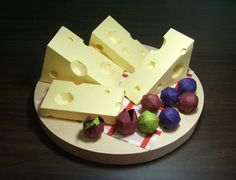 paper food - cheese by Rosa Yoo