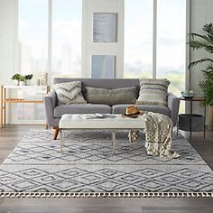 Oslember Storage Bench | Ashley Furniture HomeStore Trellis Rug, Trellis Design, Home Decor Furniture, Outdoor Furniture Sets, Indoor Rugs, At Home Store, Contemporary, Modern, Area Rugs