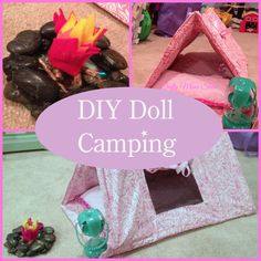Sewing Crafts Toys Crafty Moms Share: DIY Doll Camping Equipment - American Girl Doll Craft, doll, sewing, crafts for dolls, tent for doll Crafts For Girls, Diy For Girls, Ag Doll Crafts, Sewing Crafts, Sewing Toys, Poupées Our Generation, Muñeca Diy, Doll Storage, American Girl Crafts