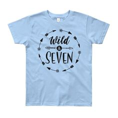 Items Similar To Wild And Seven 7th Birthday Shirt Boy Seventh Outfit Year Old Gift Trendy Party On