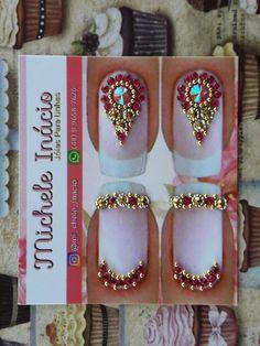 Gem Nails, Crystal Nails, Eye Make Up, Manicure, Nail Designs, Gemstone Rings, Nail Art, Gemstones, Jewelry