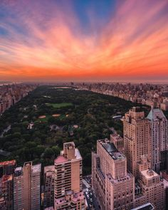 Sunset over Central Park by Brucegetty NYC