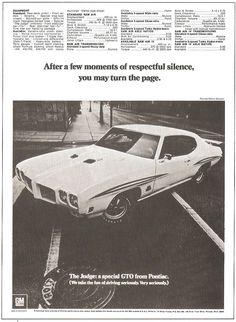 1970 GTO Judge Ad