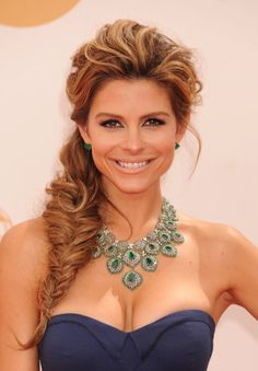 To get the fullness of Maria Menounos's gorgeous fishtail braid, be sure to pull at the braid to give it width.