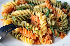 Rotini Pasta with Lemon Garlic Sauce