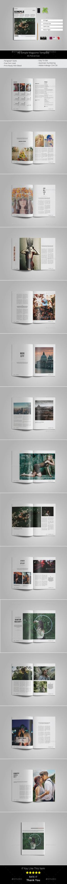A5 Simple Magazine Template - Magazines Print Templates Download here : https://graphicriver.net/item/a5-simple-magazine-template/19538747?s_rank=14&ref=Al-fatih