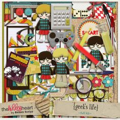 Are you a geek? So, I need to tell you that almost everything about your lifestyle is in this kit! lol I love the result of this creation and I hope you do too.  http://scrapflower.com/shoppe/product.php?productid=21965=487=1