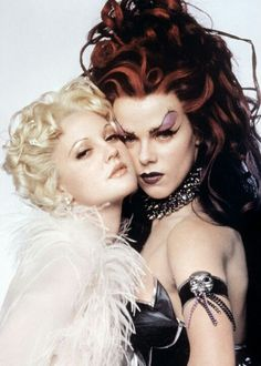 Drew Barrymore and Debi Mazar as Sugar and Spice In Batman Forever! :)