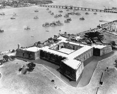 Completed in 1696 Aerial view of Castillo de San Marcos - Saint Augustine, Florida