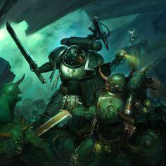 Salamanders Space Marines, Warhammer Art, Angel Of Death, Angels, Bring It On, Miniatures, Geek, Iron, Fantasy