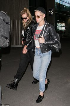 Strength to strength: Kristen and Stella are said to be on the brink on moving in together, with sources saying the blonde beauty 'spends all her time' at her girlfriend's house