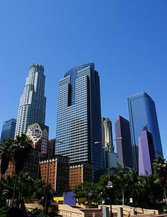 LA Skyline - List of tallest buildings in Los Angeles - Wikipedia, the free encyclopedia Los Angeles Skyline, Downtown Los Angeles, Wilshire Grand Tower, Us Bank Tower, List Of Tallest Buildings, Costa, City Of Angels, California Dreamin', City Photography