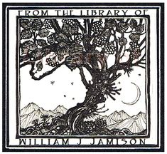 Tree of Knowledge  Vintage Bookplates  by FromTheLibraryOf on Etsy, $16.00