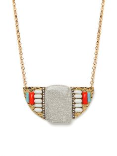 tribal moon necklace