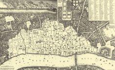 mapa de Londres de W. Hollar de 1667