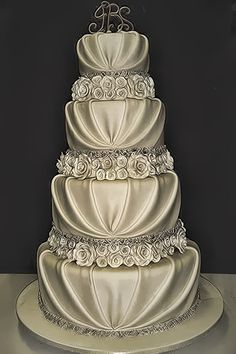 Inspiration: Wedding Cake, I would be changing the flowers to red/maroon roses -- #Indian #Wedding #Cake