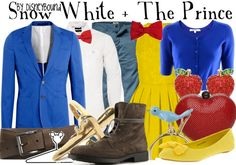 fashion, matching outfits, dress, disneybound snow white prince, disney bound, prince charming, inspired outfits, accessories, blues