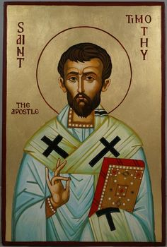 St Timothy the Apostle Hand-Painted Orthodox Icon