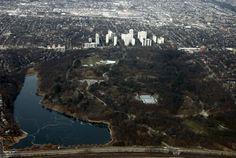 High Park, Toronto - from the sky Ontario, Toronto Canada, Landscape Photos, Aerial View, Gta, Vintage Photos, Places To Visit, Photograph, Skyline