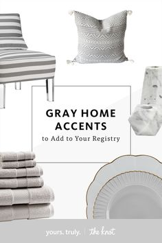 Gray Decor to Add to Your Wedding Registry