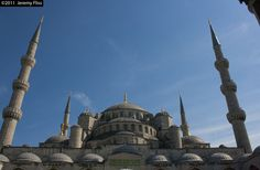 The Sultanahmet Camii (Blue Mosque) in Istanbul, Turkey.