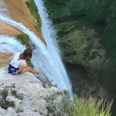 Front row seat of Cascada de Tamul, Mexico. Photo via @still thatgirl