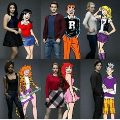 Characters of the series in comic