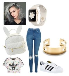 """Untitled #96"" by ssdeamues on Polyvore featuring adidas Originals, Topshop, cutekawaii, adidas and Tiffany & Co."