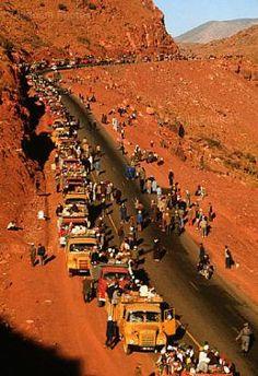 maroc , l'histoire de la la marche vert 1975